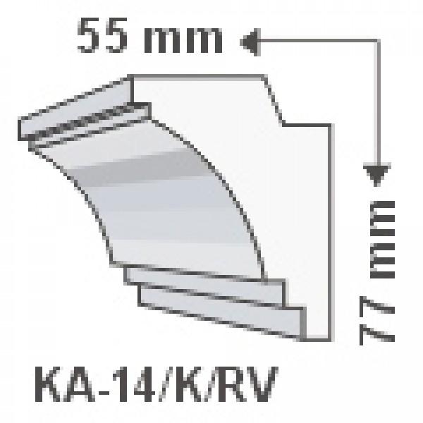 KA-14/K , Rejtett világítás díszléc , oldalfal