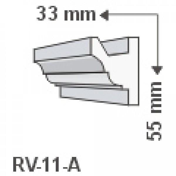 RV-11/A , Rejtett világítás díszléc , oldalfal